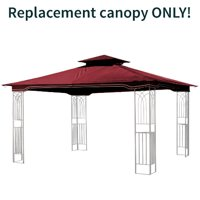 Replacement Gazebo Canopy for 10 x 12 Regency II Patio Gazebo, Maroon