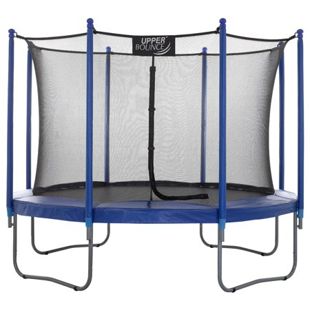Upper Bounce 10-Foot Trampoline, with Enclosure, Blue