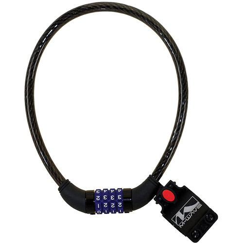 M-Wave Combination Cable Lock (Black 12 x 600mm)