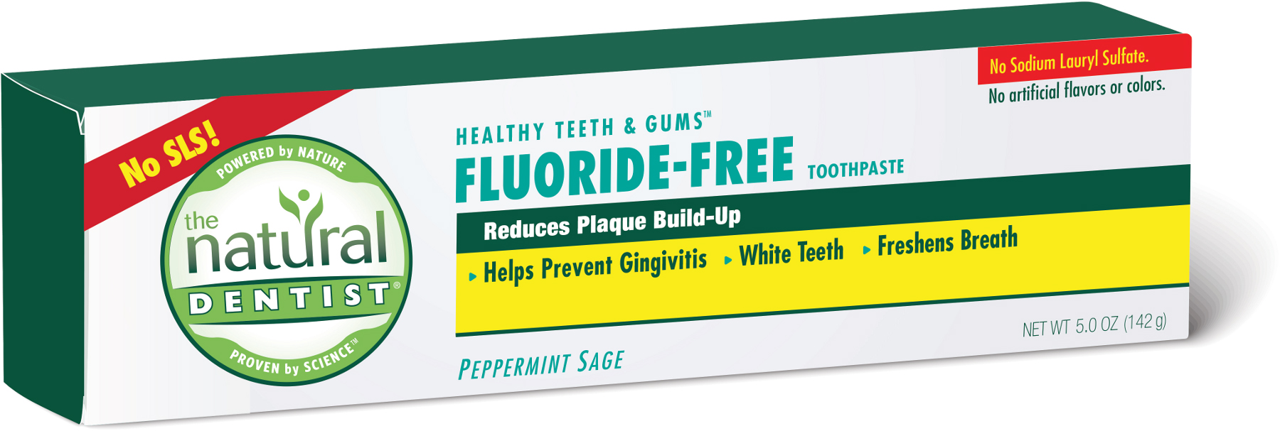 The Natural Dentist FluorideFree Toothpaste Peppermint Sage 5 oz