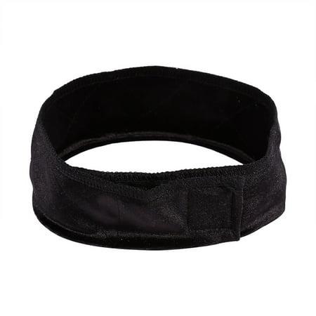 Fashionable Flexible Velvet Hair Band Woman Adjustable Wig Grip Scarf Headband - Black Headband