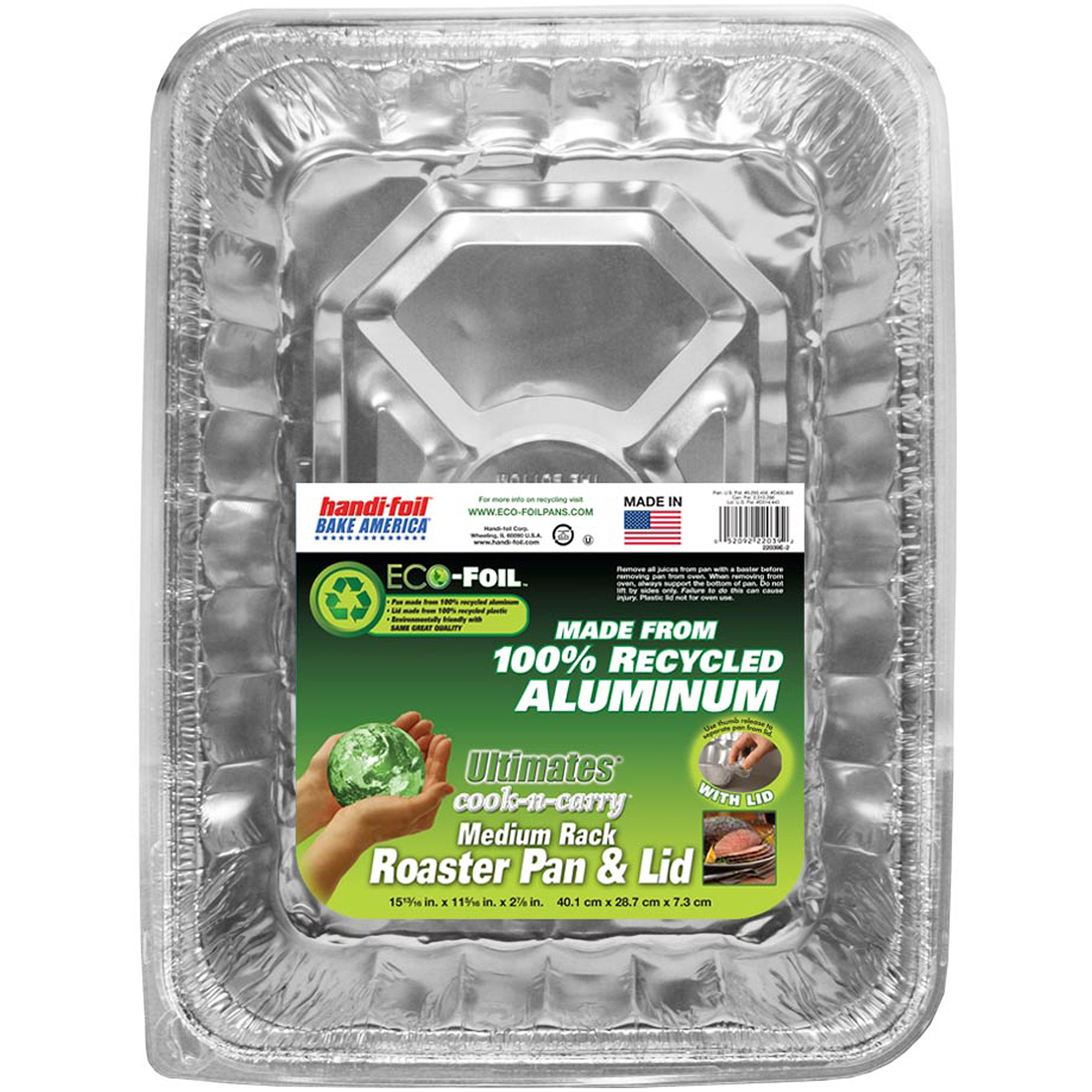 Handi-Foil Medium Rack Roaster Pan and Lid