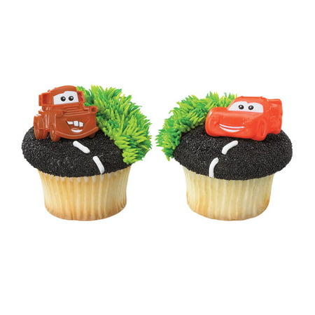 12 Cars Mater And McQueen Cupcake Cake Rings Birthday Party Favors Cake - Cars Cupcakes