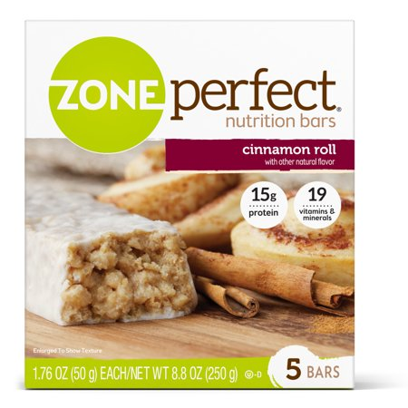 Eas Myoplex Diet Bars - ZonePerfect Nutrition Bar, Cinnamon Roll, 15g Protein, 5 Ct