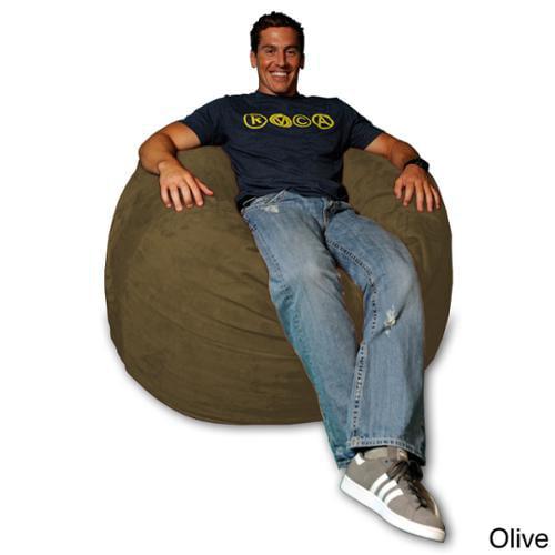 Theater Sacks LLC 4-foot Memory Foam Micro Suede Beanbag Chair