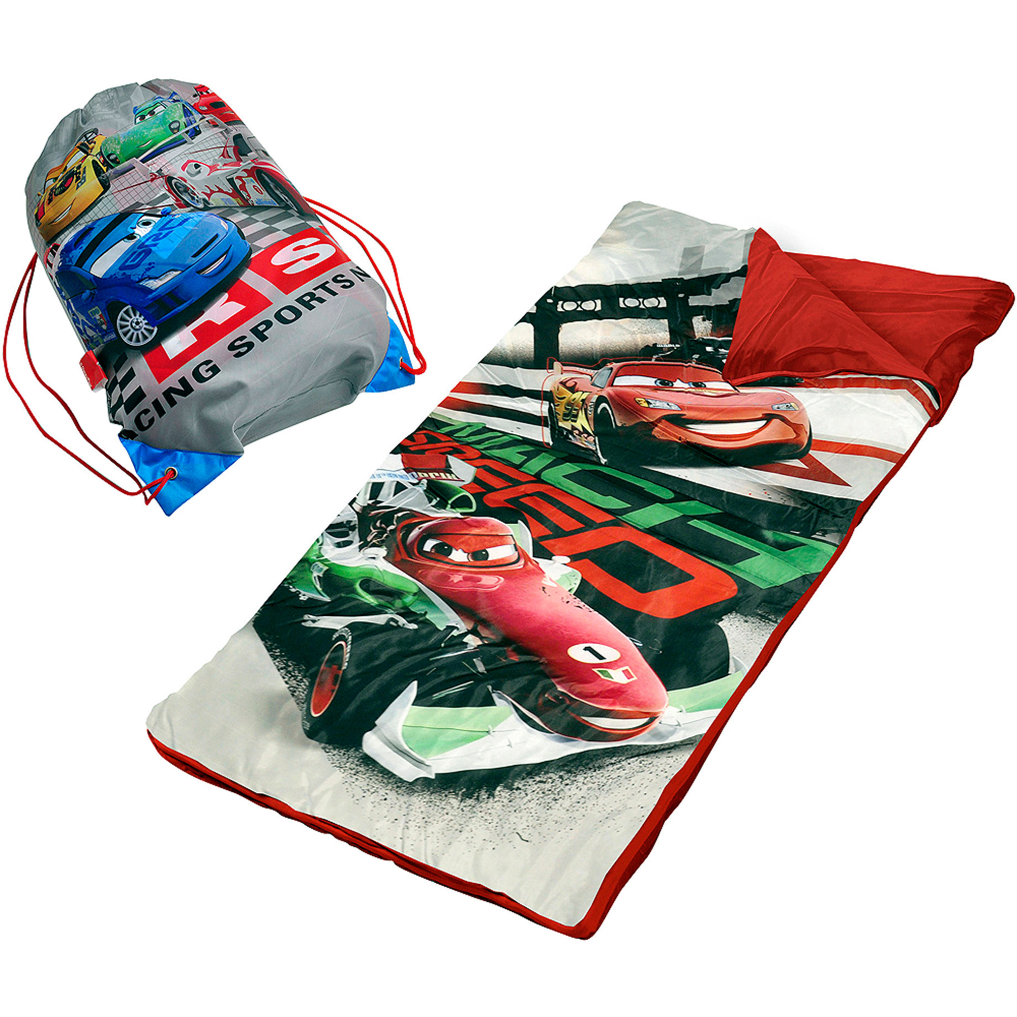 Disney Cars 2 Slumber Set/Nap Mat with BONUS Sling Bag