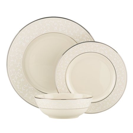 (Lenox Pearl Innocence 3-Piece Place Setting, Ivory)
