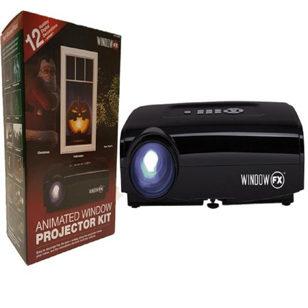 product works windowfx atmos animated window projector kit 12 pre loaded halloween christmas