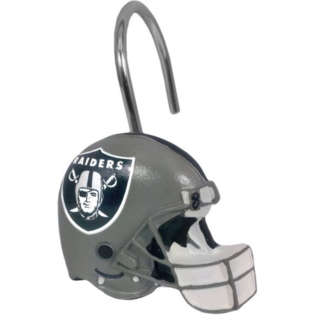 Nfl Oakland Raiders Decorative Bath Collection   12Pc Shower Hooks