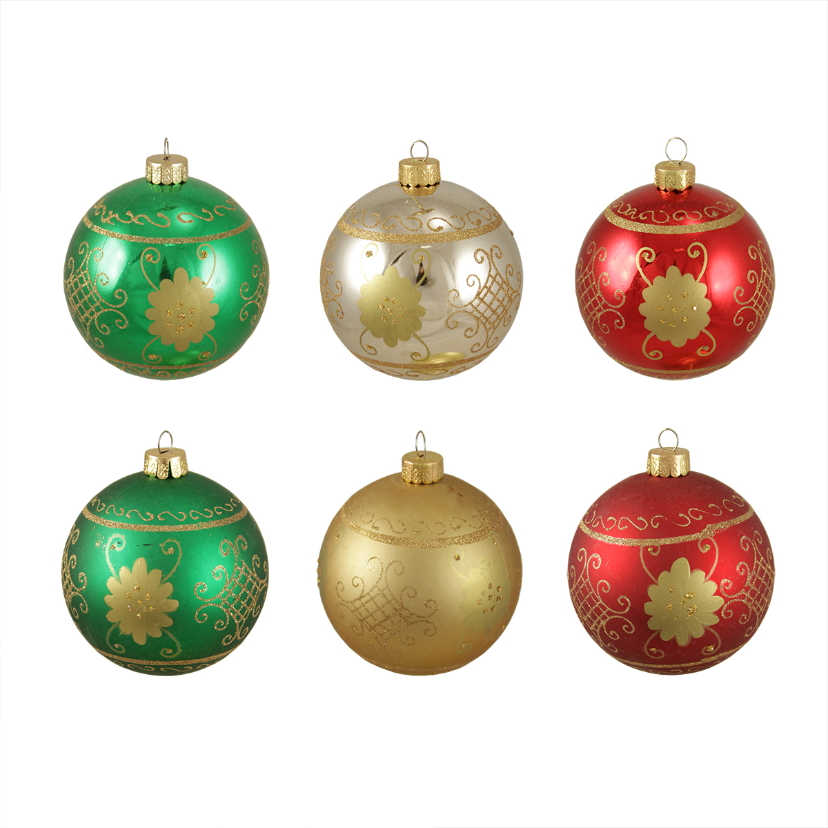 200ct Multi Color Shatterproof 20 Finish Christmas Ball Ornaments 20.205