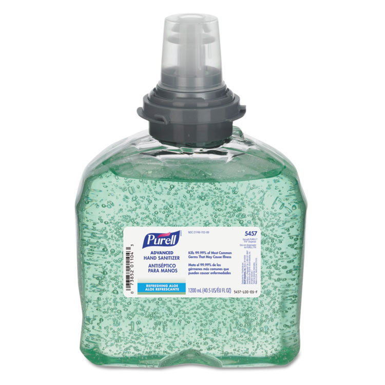 Advanced Tfx Gel Instant Hand Sanitizer Refill W/aloe, 1200ml