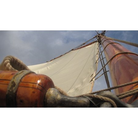 Peel-n-Stick Poster of Old Ship Sail Sailing Vessel Pirate Ship Mast Poster 24x16 Adhesive Sticker Poster - Pirate Ship Mast