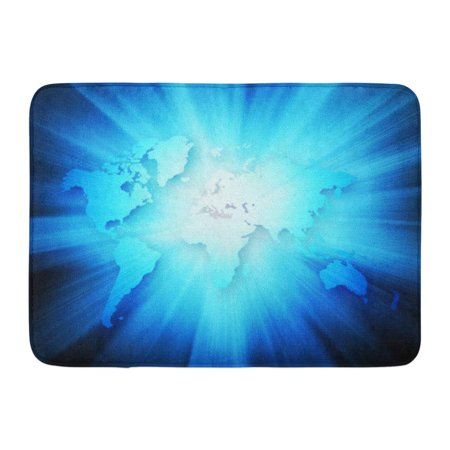 GODPOK Commerce Blue World Best Internet Concept of Global from Series Abstract Company Rug Doormat Bath Mat 23.6x15.7 - Commerce Series