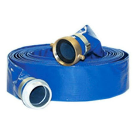 98138045 2 in. x 50 ft. PVC Lay Flat Discharge Hose Coupled M x F Short Shank Assembly