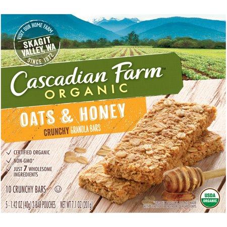 Cascadian Farm Organic Crunchy Granola Bars Oats   Honey   10 Ct