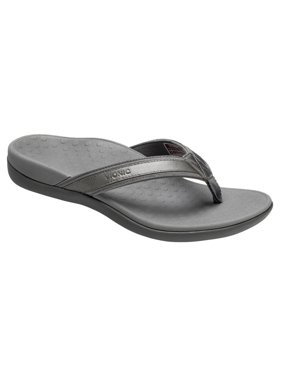 344dc8ce5d5b Product Image Vionic by Orthaheel Tide II Pewter Leather   Mesh Thong  Sandals