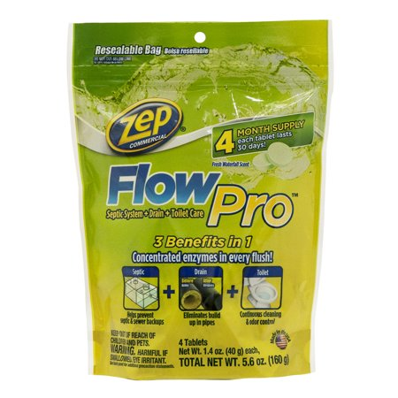 Zep Commercial Flow Pro Septic Drain And Toilet Care 5 6