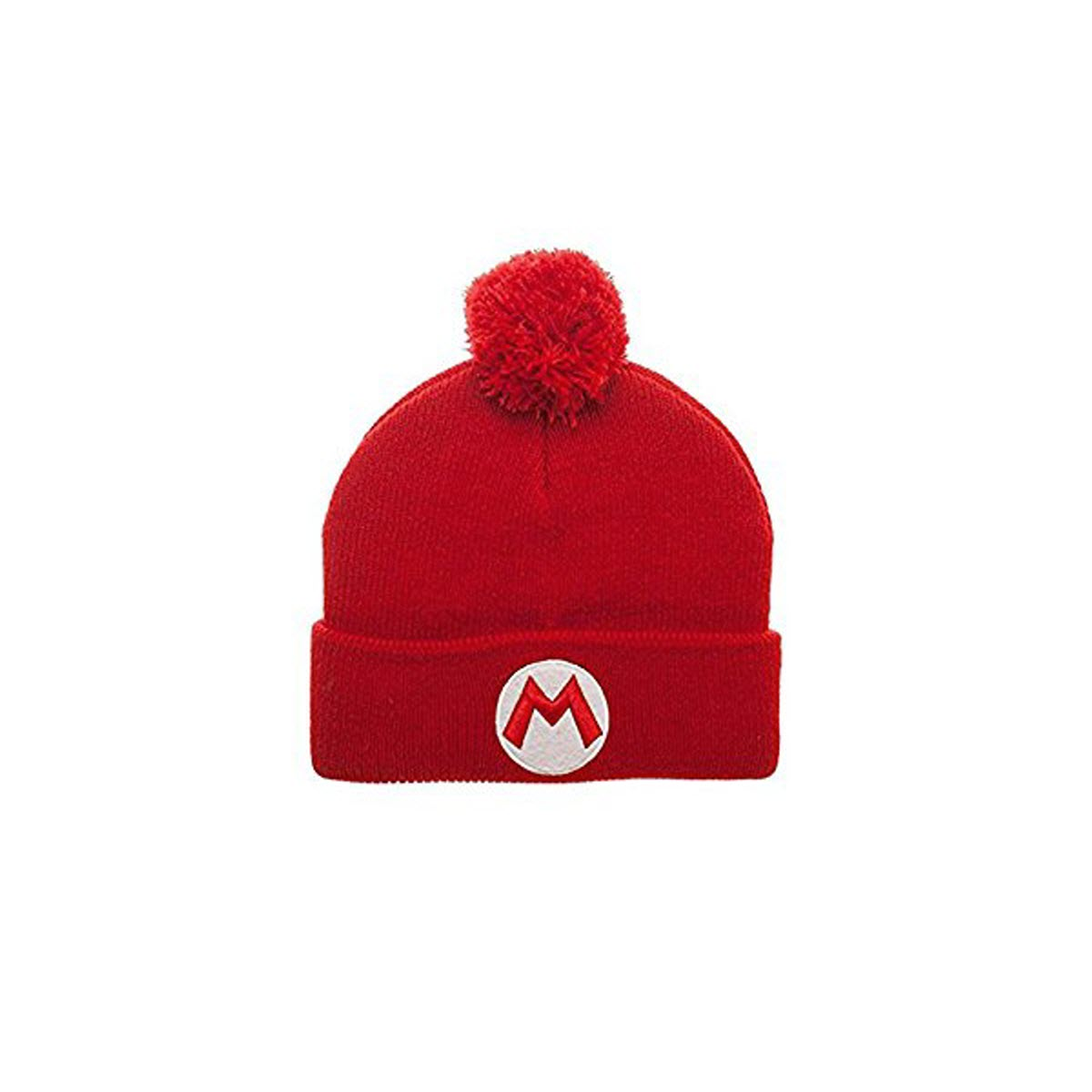 Super Mario Pom Beanie Brothers Nintendo NES Switch Wii Gift Knit ... d09e2394f3a