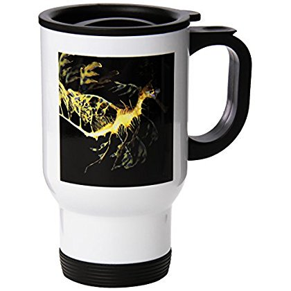 3Drose Leafy Sea Dragon Seahorse  Phycodurus Eques   Travel Mug  14Oz  Stainless Steel