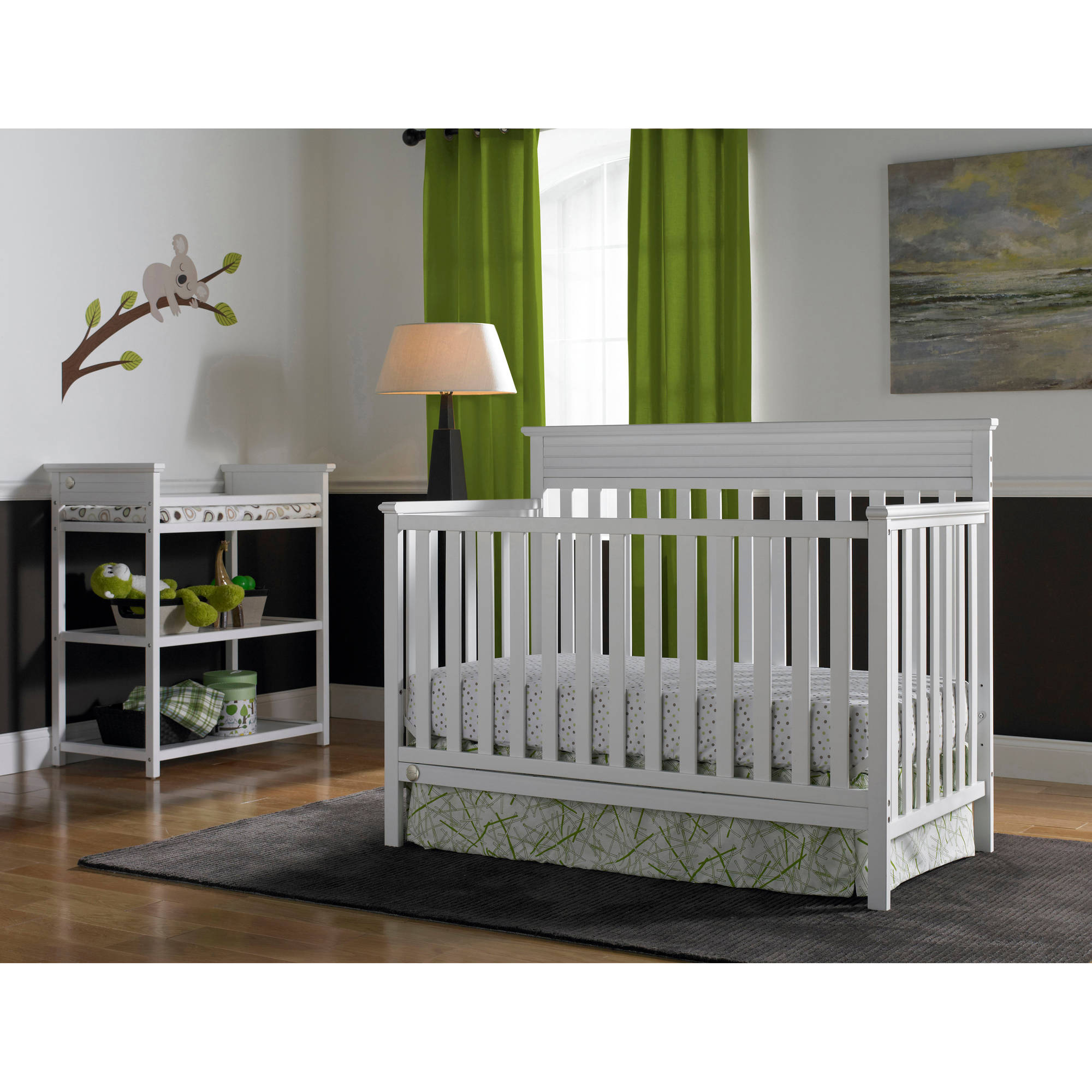 Fisher-Price Newbury 4-in-1 Convertible Crib Collection, Snow White