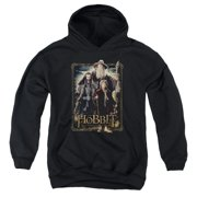 The Hobbit The Three Big Boys Youth Pullover Hoodie BLACK
