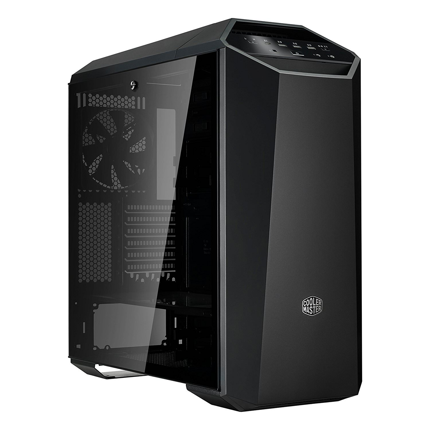 MasterCase Maker 5 Mid-Tower Compuer Case with FreeForm Modular System, Upgraded I/O with 3.0 Type C, Magnetic LED Strip, Magnetic Paneling, Sound Supression, and Cooling Bracket (MCM-M500M-KG5N-S00)
