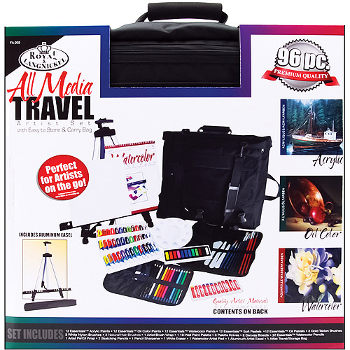 Travel Artist Set With Easy To Store & Carry Bag, All Media