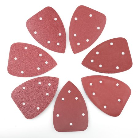 - 70 PCS Mouse Detail Sander Sandpaper Sanding Pads Sheets , 6-Hole, Assorted 40/60/80/120/180/240/320 Grit