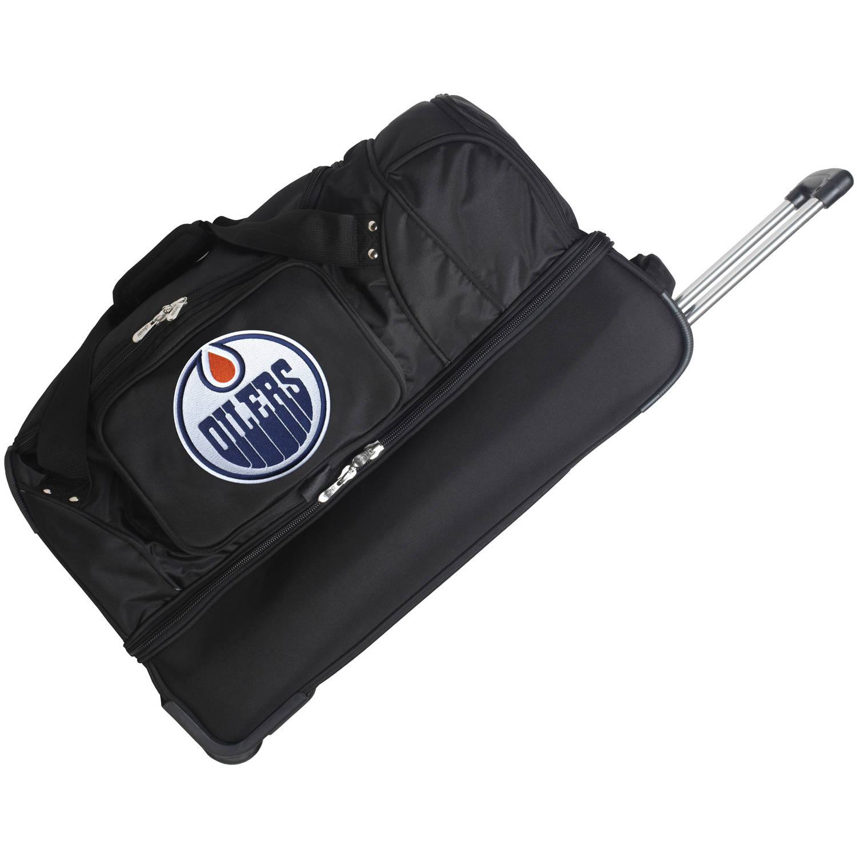 "Denco NHL 27"" Rolling Drop Bottom Duffel, Edmonton Oilers"