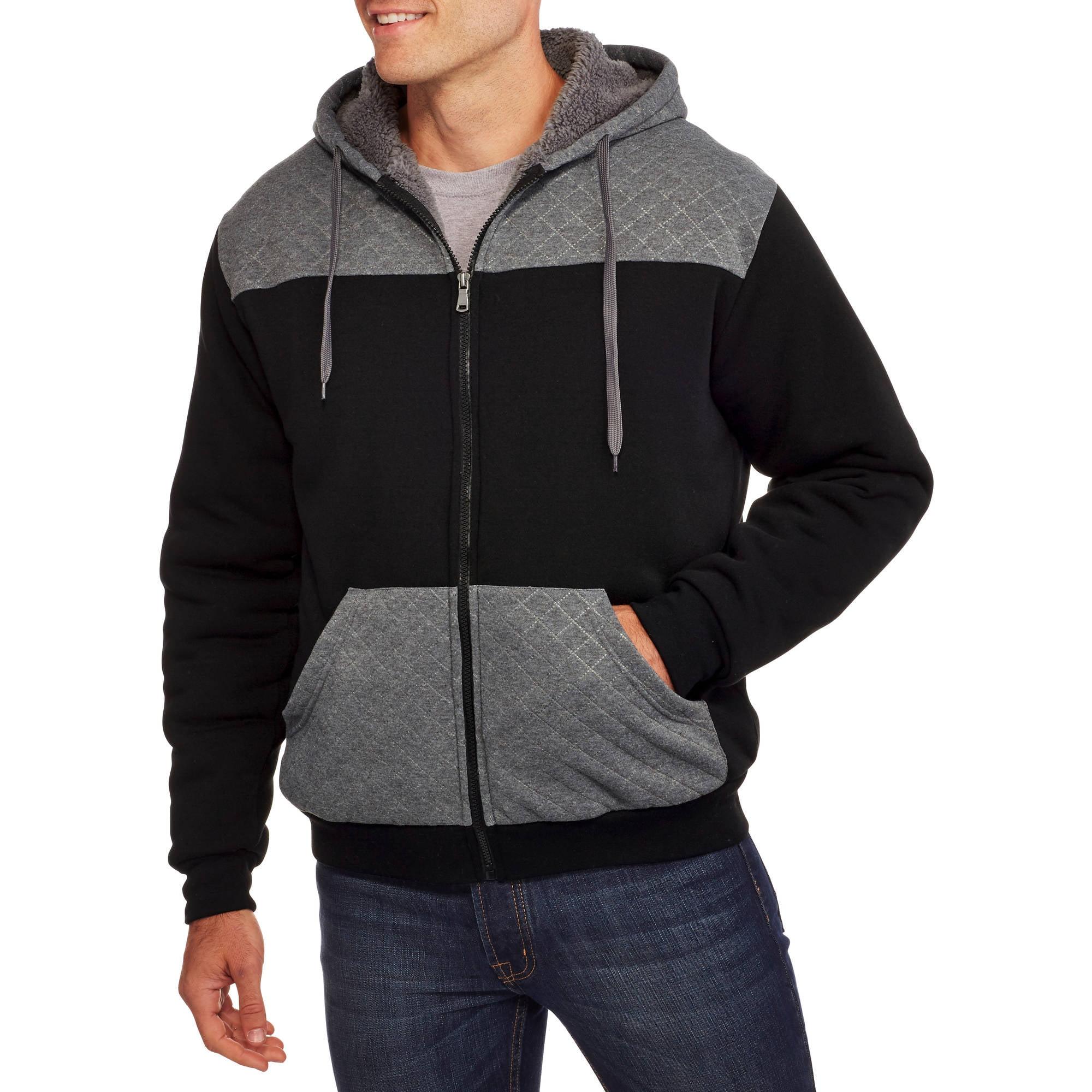 Men's Quilted Sherpa Hoodie