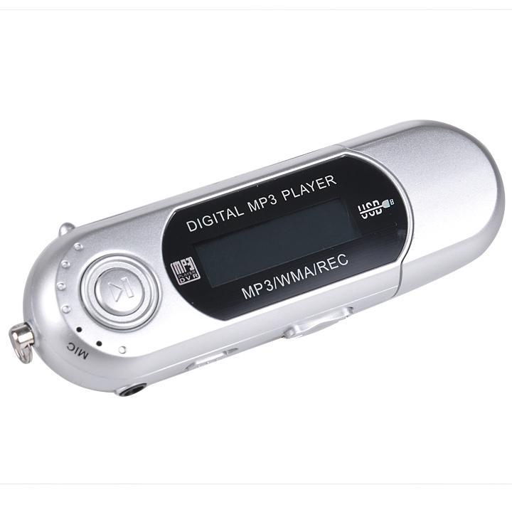 USB Digital MP3 Music Player LCD Screen with EarphoneSupport 32GB TF Card & FM Radio