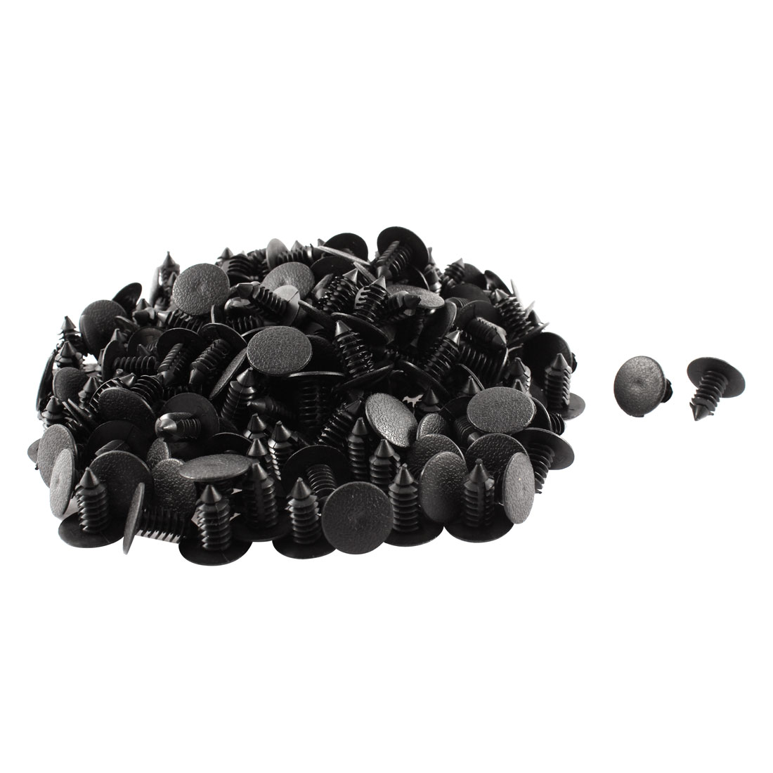 uxcell 30pcs Black Plastic Rivet Clips 9mm x 15mm x 22mm