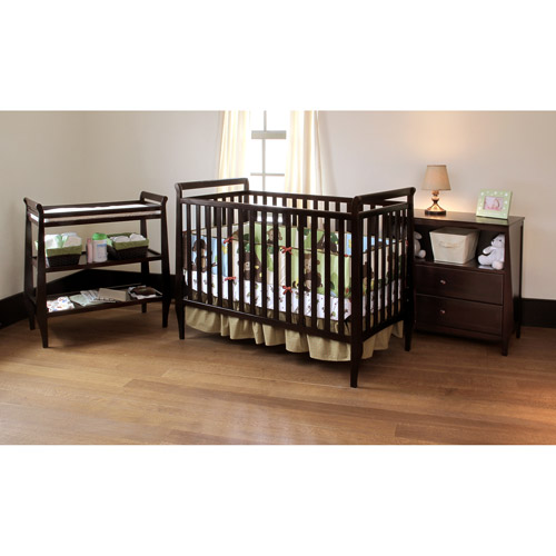 Summer Infant - Carrington Crib, Changing Table and Dresser 3 PC Set, Cordovan