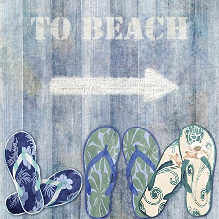 729bde6f27a2f Sign To The Beach 12x12 Art Print Poster Painting Great for Summer by Jill  Meyer POD - Walmart.com