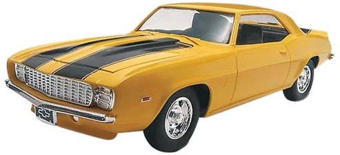 1:25 '69 Camaro Z 28, Rolling wheels with metal axles and screw on chassis By Revell Ship... by