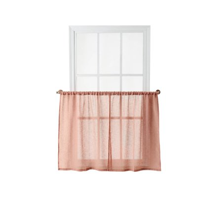 Better Homes & Gardens Hemstitch Sheer Window Tiers ()