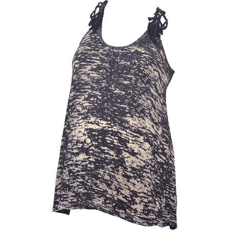 - Love My Belly Women's Black Brocade Lace Detail Maternity Tank Top