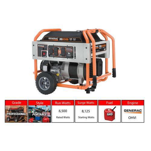 Generac XG6500 6500 Watt, 120/240V Portable Generator