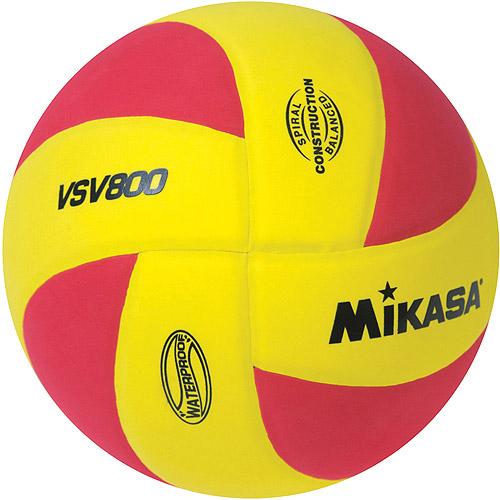 Mikasa Squish VSV800 Outdoor Volleyball, Yellow/Red