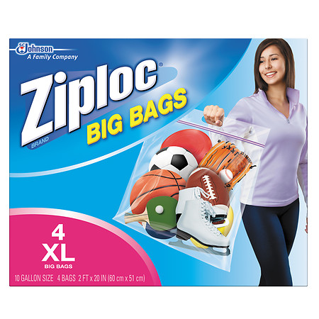 Ziploc Big Bag Ziploc Big Bag XL 4.0 ea (Pack of 12)
