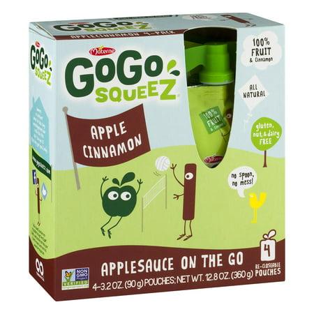 Gogo Squeez Applesauce On The Go Apple Cinnamon   4 Ct