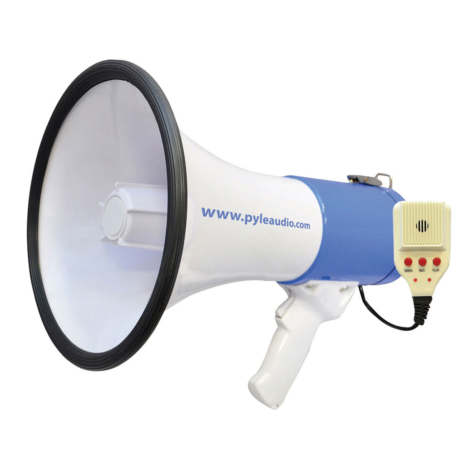 50 Watt Professional Megaphone Piezo Dynamic, Battery, Record, Siren and Talk Modes &... by Pyle