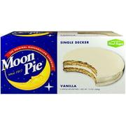 Moon Pie Single Decker Vanilla Marshmallow Sandwiches, 2 Oz., 6 Count