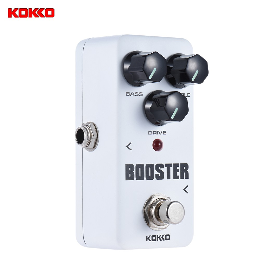 ammoon KOKKO FBS2 Mini Booster Pedal Portable 2-Band EQ Guitar Effect Pedal by