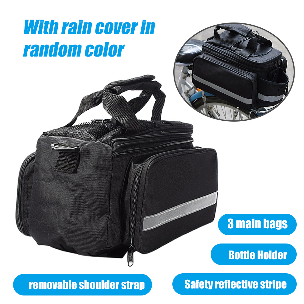 Hot Waterproof Pannier Rack Pack Shoulder Cycling Carrier Bicycle Seat Rear Bag