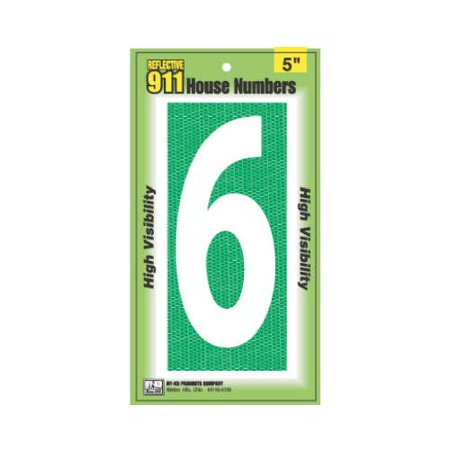 House Address Number Quot 6 Quot Reflective 911 High Visibility