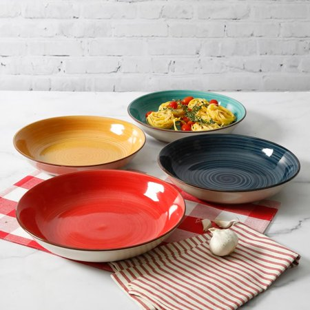 3x5 Ceramic Bowl (Large Ceramic Pasta Bowl Set - 8 1/4