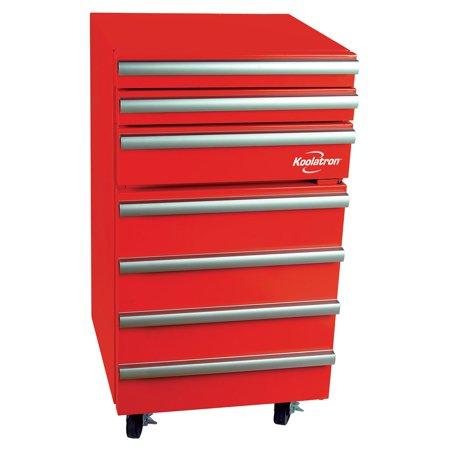Koolatron 1.8 Cu Ft Tool Chest Fridge with Sliding Drawers KTCF50, Red (Tool Fridge)