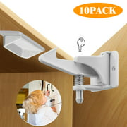 Safety Locks, EEEKit 10-Pack Universal Home Safety Cabinet Doors Child Baby Kids Proof Locks Latches with Buckles for Cabinet Drawer Closet Cupboard