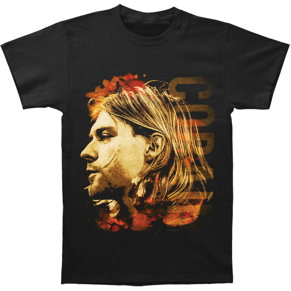 Nirvana Men's  Kurt Cobain Colored Side View T-shirt Black